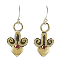 Angelica Heart Earrings in Ruby