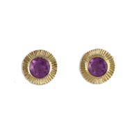 Keltie Stud Earrings in Amethyst