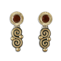 Keltie Dangle Earrings in Garnet