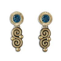 Keltie Dangle Earrings in London Blue Topaz