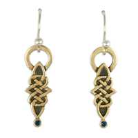 Marquis Earrings in 14K Yellow Design/Sterling Base