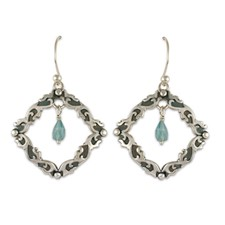 Davina Tear Drop Earrings in Sterling Silver