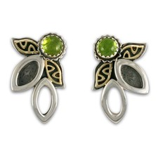 Silva Earrings in Peridot