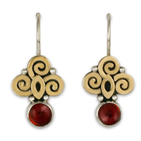 Elixir Earrings in Garnet