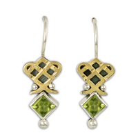 Royal Earrings in Peridot