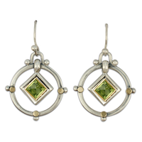 Petey Earrings in Peridot