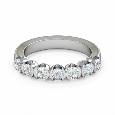 Divine Seven Diamond Fairtrade Gold Eternity Ring in 18K White Gold