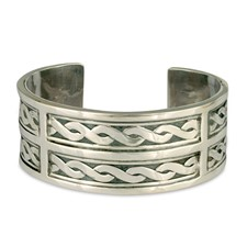 One of a Kind Donegal Cuff Bracelet in Sterling Silver