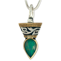 One of a Kind Ethiopian Opal Flores Pendant in Opal: Ethiopian