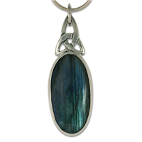 One of a Kind Labradorite Trinity Pendant in Sterling Silver