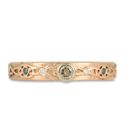 One of a Kind Trinity Twist Ring in 14K Rose Gold
