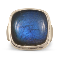 One of a Kind Labradorite Ring in Sterling Silver