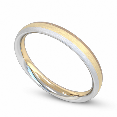 Fairtrade Gold Three Color Women s Wedding Ring in 18K White, Yellow & Rose Gold