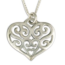 Collette s Heart Pendant  in Sterling Silver