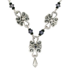 Lee Necklace Silver with Gem in Iolite