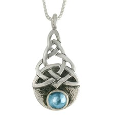 Blue Moon Pendant in Swiss Blue Topaz