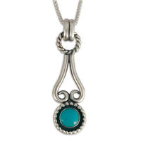 Rolling Moon Pendant in Turquoise