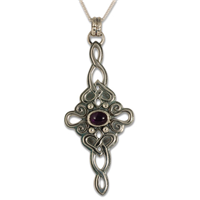 Lovinity Pendant with Gem  in Amethyst