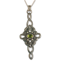 Lovinity Pendant with Gem  in Peridot
