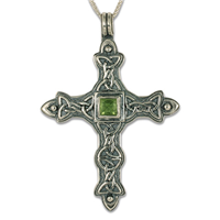 Aedan Cross Pendant in Peridot