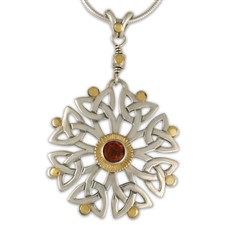 Arbor Dangle Pendant in Garnet
