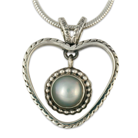 Mabe Heart Pendant in Sterling Silver