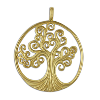 Tree of Life Pendant 18K Large in 18K Yellow Gold