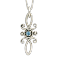 Viola Pendant in Swiss Blue Topaz