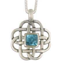 Basket Pendant with Gem in Sterling Silver