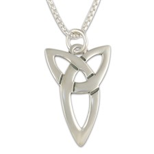 Trinity Pendant Large in Sterling Silver