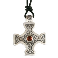 Columba s Cross on Cord in Sterling Silver