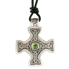Columba s Cross on Cord in Peridot