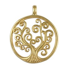 Tree of Life Pendant 14K Small in 14K Yellow Gold