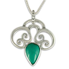 Bonnet Pendant with Gem in Turquoise