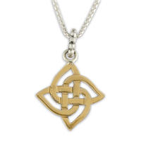 Karasel Pendant in 14K Yellow Gold Design w Sterling Silver Base