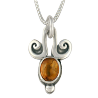 Angelica Oval Pendant in Sterling Silver