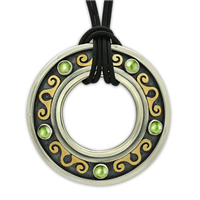 Messina Pendant with Gem in Peridot