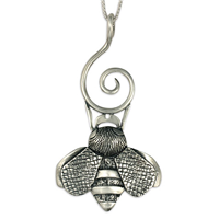 Bee Symphony Pendant in Sterling Silver