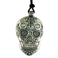 Timothy Silver Skull Pendant in Sterling Silver