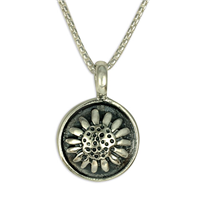 Sunflower Pendant in Sterling Silver
