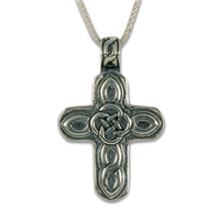 Sita Rope Cross in Sterling Silver