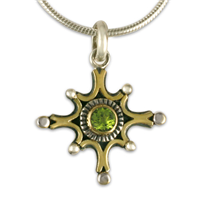 Morning Star Pendant in Peridot