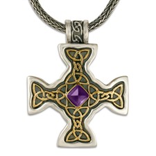 Columba s Cross in Amethyst