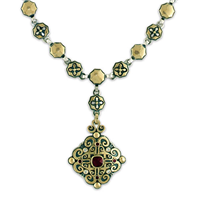 Shonifico Necklace in 14K Yellow Design/Sterling Base