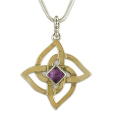 Karasel Pendant with Gem in Amethyst