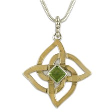Karasel Pendant with Gem in Peridot