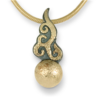 Ultimo Necklace in 14K Yellow Gold Design w Sterling Silver Base