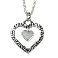 Taliesin Double Heart Pendant in Sterling Silver