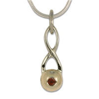 Levelle Pendant in 14K Yellow Gold Design w Sterling Silver Base