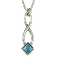 Twist Pendant in Swiss Blue Topaz